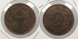 World Coins - URUGUAY: 1869-H Centesimo
