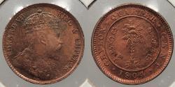 World Coins - CEYLON: 1904 1/4 Cent