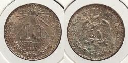 World Coins - MEXICO: 1928-Mo 10 Centavos