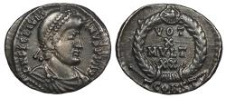 Ancient Coins - Julian II 361-363 A.D. Siliqua Arelate Mint VF Ex Harptree Hoard, found in 1887.