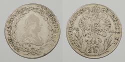 World Coins - AUSTRIA: 1775-B SK-PD 20 Kreuzer