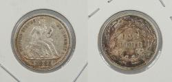Us Coins - 1885 Seated Liberty 10 Cents (Dime)