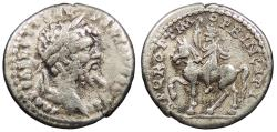 Ancient Coins - Septimius Severus 193-211 A.D. Denarius Emesa Mint Good Fine
