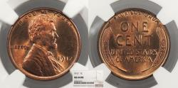 Us Coins - 1917 Lincoln 1 Cent NGC MS-64 RB