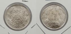 World Coins - GERMANY: 1918-F 1/2 Mark