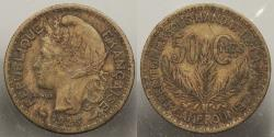 World Coins - CAMEROON: 1926 50 Centimes
