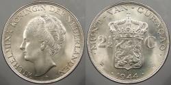World Coins - CURACAO (CURAÇAO): 1944-D 2-1/2 Gulden