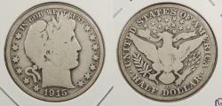 Us Coins - 1915-D Barber 50 Cents (Half Dollar)