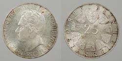 World Coins - AUSTRIA: 1965 25 Schillings