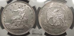 Us Coins - 1878 S Trade 1 Dollar (Silver) NGC AU-55