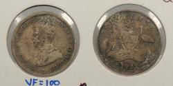 World Coins - AUSTRALIA: 1922 George V Sixpence