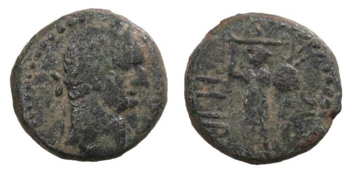 Ancient Coins - Judaea Ascalon Domitian 81-96 A.D. AE17 Good Fine