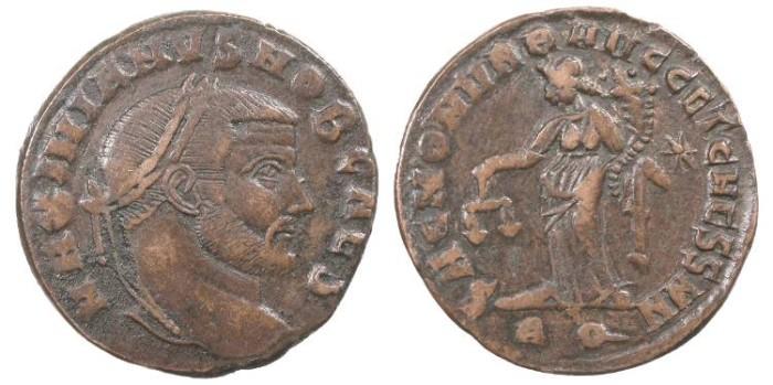 Ancient Coins - Galerius, as Caesar 293-305 A.D. Follis Rome Mint VF