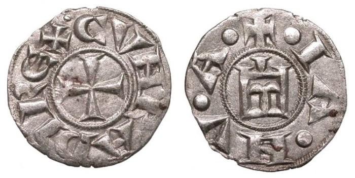 World Coins - ITALIAN STATES Genoa Republic 1139-1339 Denaro Good VF