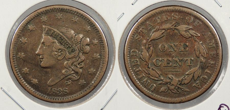 US Coins - 1838 Matron Head 1 Cent