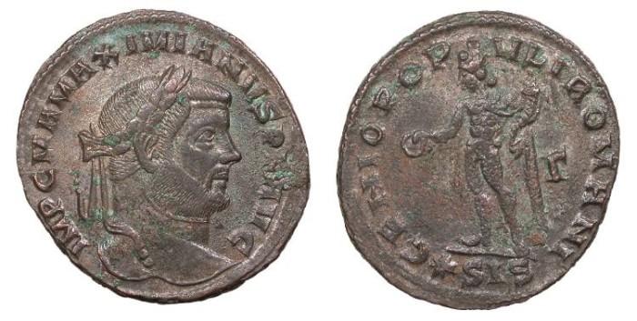 Ancient Coins - Maximianus 286-305 A.D. Follis Siscia Mint Good VF