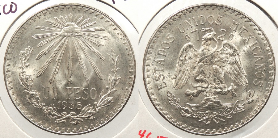 World Coins - MEXICO: 1935-M Peso