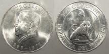World Coins - PARAGUAY: 1968 Stroessner commem. 300 Guaranies