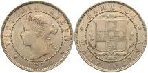 World Coins - JAMAICA: 1880 1/2 Penny