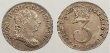 World Coins - GREAT BRITAIN: 1762 Maundy coinage 3 Pence