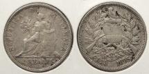 World Coins - GUATEMALA: 1895 2 Reales