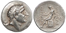 Ancient Coins - Seleukid Kings Antiochus I 280-261 B.C. Tetradrachm VF