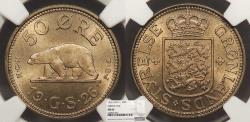 World Coins - GREENLAND Christian X 1926 50 Ore NGC MS-66