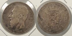 World Coins - BELGIUM: 1867 Leopold II 2 Franc