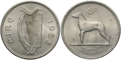 World Coins - IRELAND: 1958 6 Pence