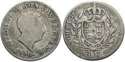 World Coins - GERMAN STATES: Wurttemburg Wilhelm 1830 6 Kreuzer