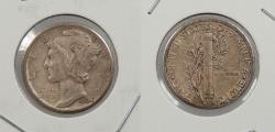 Us Coins - 1934-D Mercury 10 Cents (Dime) 'D/D' over-mintmark