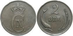 World Coins - DENMARK: 1875 2 Ore