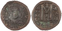 Ancient Coins - Justinian I 527-565 A.D. Follis (40 Nummi) Cyzicus Mint VF