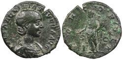 Ancient Coins - Aquilia Severa, wife of Elagabalus 220-222 A.D. As Rome Mint VF