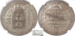 World Coins - BRAZIL Joao, Prince Regent 1816-R 960 Reis NGC AU-55