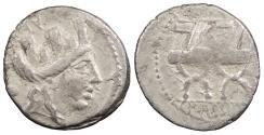 Ancient Coins - P. Furius Crassipes 84 B.C. Denarius Rome Mint Good Fine