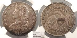Us Coins - 1836 Capped Bust; Lettered Edge 50 Cents (Half Dollar) NGC AU-55