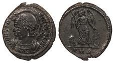 Ancient Coins - Time of Constantine I 317-337 A.D. Follis Trier Mint EF