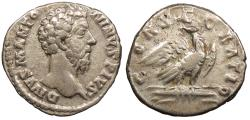 Ancient Coins - Divus Marcus Aurelius Died 180 A.D. Denarius Rome Mint VF