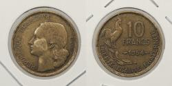 World Coins - FRANCE: 1954 Key Date. 10 Francs