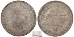 World Coins - BRAZIL Joao, Prince Regent 1817/6-R 960 Reis NGC AU-53