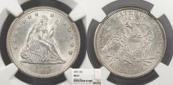 Us Coins - 1875 Seated Liberty 25 Cents (Quarter) NGC MS-61
