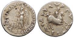 Ancient Coins - Baktria Indo-Greek Kings Antimachos II 174-165 B.C. Drachm VF
