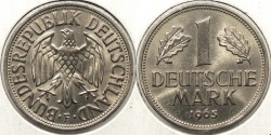 World Coins - GERMANY: Federal Republic 1965-F 1 Mark