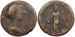 Ancient Coins - Judaea Neapolis Faustina II, wife of Marcus Aurelius 161-175 A.D. AE27 Fine