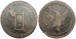 Us Coins - 1789 Mott Token; thin planchet; plain edge Colonial Coinage EF