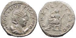 Ancient Coins - Herennia Etruscilla, wife of Trajan Decius 249-251 A.D. Antoninianus Rome Mint Good VF