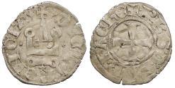 World Coins - CRUSADERS   Philip of Savoy 1301-1307 Denier   Good VF