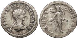 Ancient Coins - Geta, as Caesar 198-209 A.D. Denarius Laodicea ad Mare Mint VF
