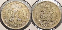World Coins - MEXICO: 1919-Mo 50 Centavos